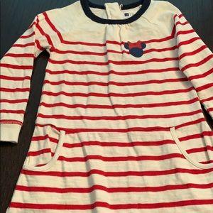 Long sleeve striped dress little girls size 4